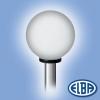 Elba Dekoratív közterületi lámpa GLOBOLUX 1x100W E27 d=300mm PMMA opál búra IP44 Elba