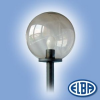 Elba Dekoratív közterületi lámpa GLOBOLUX 1x150W E27 d=500mm PMMA füst búra IP44 Elba
