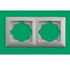 Gunsan VISAGE Kettes keret Vízszintes IP20 Fehér - Gunsan villanyszerelés