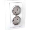 Schneider Electric UNICA PLUS Kettes csatlakozóaljzat védőföldelés nélkül gyermekvédelemmel 16 A IP20 Fehér MGU63.063.18 - Schneider Electric