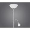 EGLO Álló lámpa 1x100W E27+1x40W E14 mag:178cm kapcsolós matt nikkel UP2 82842 Eglo
