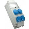 Sez vízálló ipari csatlakozószekrény 5 modulos 4xSchuko 16A 2P+F , IP54