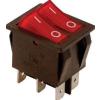 Tracon Electric Készülékkapcsoló, BE-KI, 2-áramkör, piros, 0-I felirattal - 16(6)A, 250V AC TES-43 - Tracon