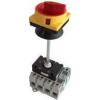 Tracon Electric Biztonsági lakatolható szakaszoló kapcsoló ajtókupplunggal - 400V, 50Hz, 63A, 4P, 18,5kW, 64x64mm TSS-634K - Tracon