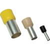 Tracon Electric Szigetelt (PA6.6) érvéghüvely, ónozott elektrolitréz, fekete - 6mm2, L=20,5mm E122 - Tracon