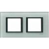 Schneider Electric UNICA CLASS Üveg Kettes keret Vízszintes IP20 Szürke MGU68.004.7C3 - Schneider Electric