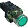 Tracon Electric Világító nyomógomb, fémalapra szerelt, előtét, zöld, glim - 1xNO, 3A/230V AC, 130V, IP42 NYGBW3371Z - Tracon