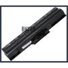 Sony VAIO VGN-CS17H/Q 4400 mAh 6 cella fekete notebook/laptop akku/akkumulátor utángyártott
