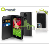 Muvit LG G2 Mini D620/D618 flipes tok kártyatartóval - Muvit Slim and Stand - black