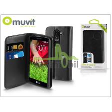 Muvit LG G2 Mini D620/D618 flipes tok kártyatartóval - Muvit Slim and Stand - black tok és táska