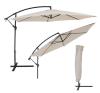 3,5 m átmérőjű napernyő védőhuzattal bézs kerti bútor