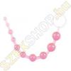 ToyJoy Thai Toy Beads zselés anál gyöngysor - rózsaszín