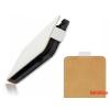 CELLECT Sony Xperia E4 Flip bőr tok,Fehér