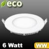 ECO LED panel (kör alakú) 6 Watt - meleg fehér fényű