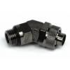 AquaTuning 11 / 8mm (8x1,5mm) szorítógyûrûs csatlakozó 45 ° elforgatható G1 / 4 - fekete nikkel