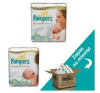 Pampers Premium Care 1 + 2 Pelenka, 222 db pelenka