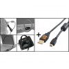 Tether Tools Starter Tethering Kit w/ USB 2.0 Mini-B 8 Pin Cable 15 BLK