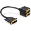 DELOCK Adapter DVI 29 male -> 2x VGA female (65055)