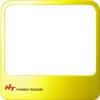 Kaputelefon, szerelvény HYUNDAI Extra Window Frame Yellow
