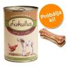 Lukullus próbacsomag 6 x 400 g/800 g + 12 x 5 cm rágócsont - Marha & pulyka 6 x 800 g