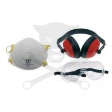 BGS Technic Munkavédelmi szett 3 db-os védőszemüveg-fülvédő-álarc (9-3625)