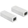 DELOCK Displayport mini 1.2 F/F adapter fehér 65450