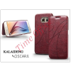 Kalaideng Samsung SM-G920 Galaxy S6 flipes tok - Kalaideng Oscar 2 Series - dark red