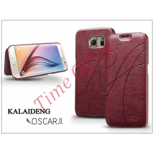 Kalaideng Samsung SM-G920 Galaxy S6 flipes tok - Kalaideng Oscar 2 Series - dark red tablet tok