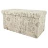 LETTRES Összehajtható, ülőkés tároló puff, 80 cm - LETTRES