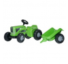 Rolly Kiddy Futura pedálos traktor utánfutóval kreatív és készségfejlesztő