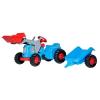 Rolly Kiddy Classic pedálos markolós traktor utánfutóval