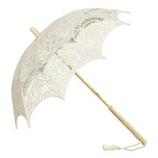 Sissy, csipke napernyő, krém szín