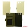 CELLECT Huawei P8 Flip oldalra nyiló tok+tartó,Fehér