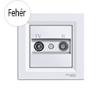 Asfora - TV-R aljzat, átmenő, 4 dB, komplett, fehér hűtés, fűtés szerelvény