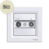 Asfora - TV-R aljzat, átmenő, 8 dB, komplett, bézs