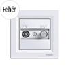Asfora - TV-SAT aljzat, végzáró, 1 dB, komplett, fehér