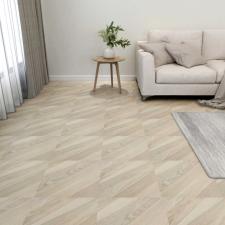 55 db bézs csíkos öntapadó PVC padlólap 5,11 m² építőanyag