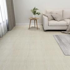55 db krémszínű öntapadó PVC padlólap 5,11 m² építőanyag