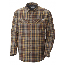 Columbia Silver Ridge™ Plaid Long Sleeve Shirt Ing D (AM7441l_683-Sunset Red)