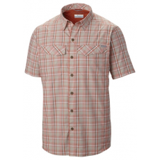 Columbia Silver Ridge Multi Plaid S S Shirt D (AM7429m_868-Backcountry Orange Plaine Weave) Férfi ing