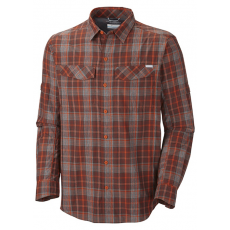 Columbia Silver Ridge™ Plaid Long Sleeve Shirt Ing D (AM7441l_867-Backcountry Orange)