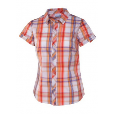 Columbia Diamond Lake II Short Sleeve Shirt Ing,blúz D (AL7923m_800-Coral Flame)