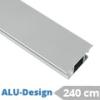 ALU-Design függönyarnis, belső csúszású rúd, szürke (240 cm)
