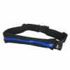 Qoltec Universal sports belt for smartphone/key   single pocket   black+blue