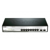 D-Link 10-port 10/100/1000 Gigabit Smart Switch including 2 Combo 1000BaseT/SFP