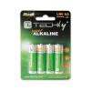 Techly alkalikus elem, 1.5V AA LR6, 4 darab