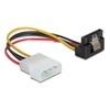 DELOCK Molex (M) - 1 x SATA (F) tápátalakító kábel (15 cm, 90 fokos)