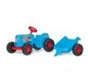 Rolly Kiddy Classic pedálos traktor utánfutóval lábbal hajtható járgány