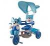 Egeres fedeles tricikli, kék lábbal hajtható járgány