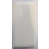 Telone Pocket Slim lefelé nyíló érdes bőrbevonatos fliptok Alcatel OT-7040, OT-7041 Pop C7-hez fehér*